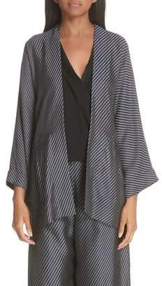 Zero Maria Cornejo Oki Bias Stripe Wrap Jacket