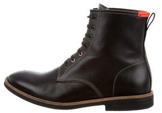 Paul Smith Leather Combat Boots