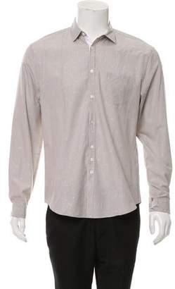 John Varvatos Floral Striped Print Shirt