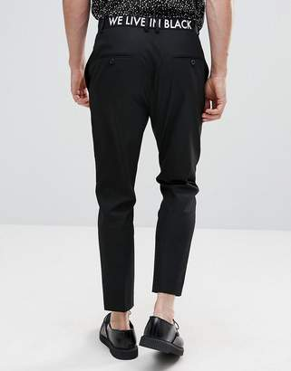 Religion Skinny Pants With Waistband Print