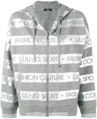 Liu Jo metallic striped hoodie