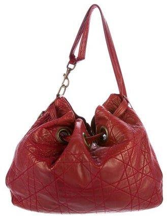 Christian Dior Leather Cannage Hobo