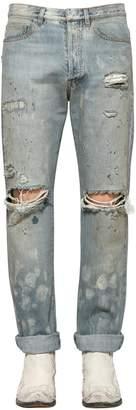 Faith Connexion 16cm Distressed Cotton Denim Jeans