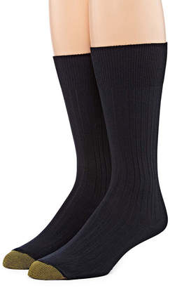 Gold Toe Men's 2 Pair Wellness Comfort Top Nylon Crew Socks