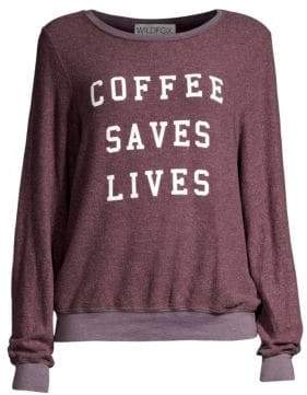 Wildfox Couture Coffee Saves Lives Sweatshirt