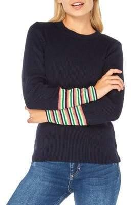 Dorothy Perkins Rainbow Cuff Crewneck Sweater
