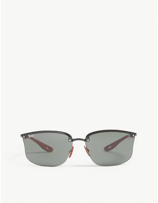 Ray-Ban RB4322 Ferrari rectangle-frame sunglasses