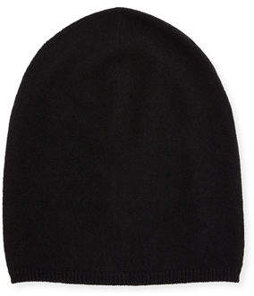 Neiman Marcus Cashmere Solid Slouch Knit Hat