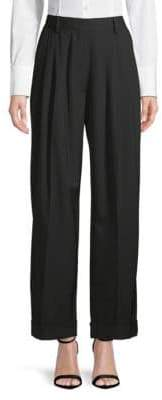 Dries Van Noten Wool High-Rise Pants