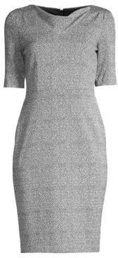 DKNY Asymmetric Cowlneck Sheath Dress