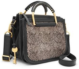 Fossil Ryder Mini Satchel Handbags White Cheetah