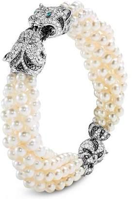 John Hardy 18K White Gold Cinta Macan Pearl Bracelet with Diamonds & Gemstones - 100% Exclusive