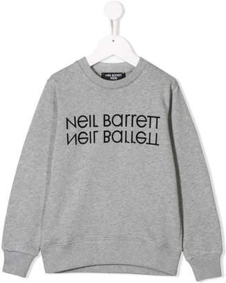 Neil Barrett Kids logo print sweatshirt