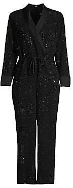 Trina Turk Women's Cocktail Celebration Straight-Leg Crop Embellished Drawstring Jumpsuit