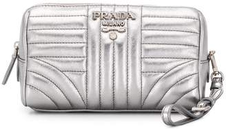 Prada quilted logo clutch bag