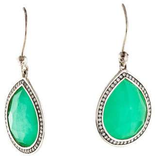 Ippolita Chrysoprase, Quartz & Diamond Teardrop Earrings silver Chrysoprase, Quartz & Diamond Teardrop Earrings