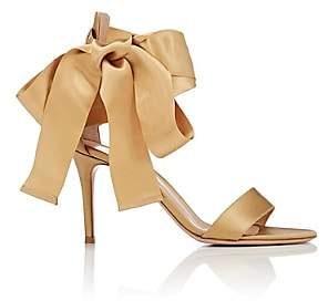 Gianvito Rossi WOMEN'S SATIN ANKLE-TIE SANDALS-MEKONG SIZE 7.5