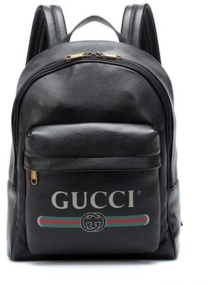 8ae192b6e24 ShopStyle  Gucci Printed leather backpack