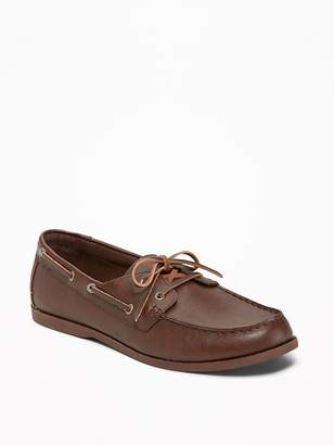 Old Navy Faux-Leather Boat Shoes for Men