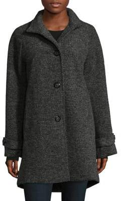 Jones New York Stand Collared Coat