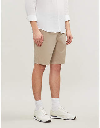 BOSS Regular-fit cotton-blend twill chino shorts