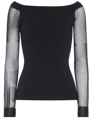 Roland Mouret Leafield long-sleeved top