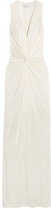 Twist-front Jersey Gown - Ivory
