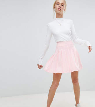 Daisy Street Pleated Mini Skirt In Check