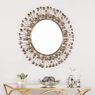 Southern Enterprises Taylow Oversized Decorative Round Mirror, Antique Bronze
