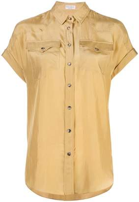 Brunello Cucinelli (ブルネロ クチネリ) - Brunello Cucinelli crepe shirt