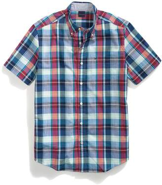 Tommy Hilfiger Slim Fit Plaid Short Sleeve Shirt