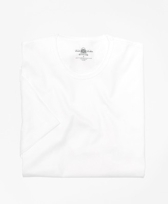 Brooks Brothers Country Club Mercerized Cotton Crewneck