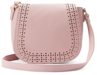 Olivia Miller Kaya Perforated Saddle Crossbody Bag $54 thestylecure.com