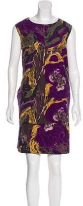 Marni Sleeveless Shift Dress Violet Sleeveless Shift Dress