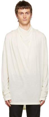 Balmain Ivory Cowl Neck Sweater