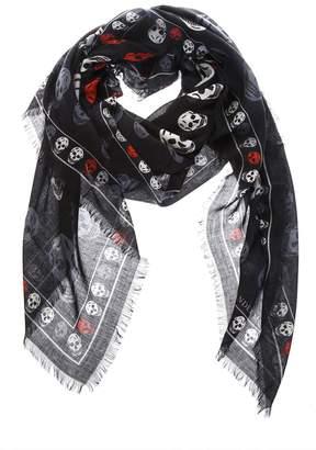 Alexander McQueen Silk Foulard Skull Printed