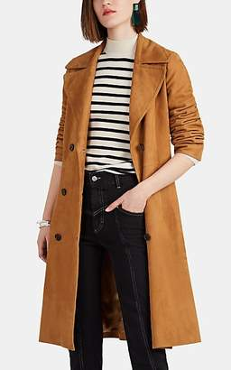 Nili Lotan Women's Suede Double-Breasted Trench Coat - Camel