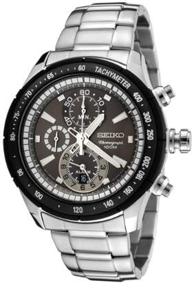 Seiko Men's SNAC89P Chronograph Dial Stainless Steel Alarm Watch