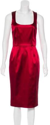 Dolce & Gabbana Satin Sheath Dress