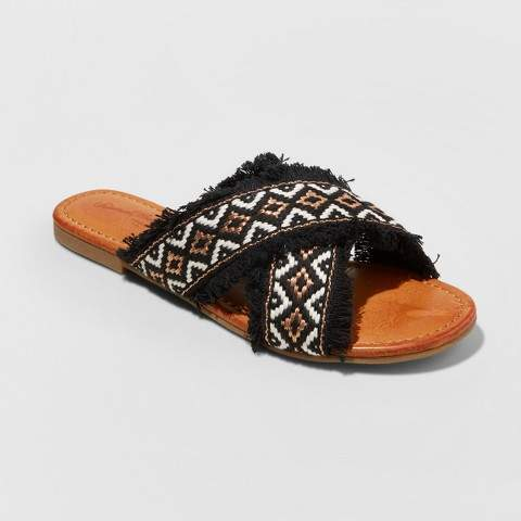 Universal Thread Women's Jupiter Cross Band Slide Sandals