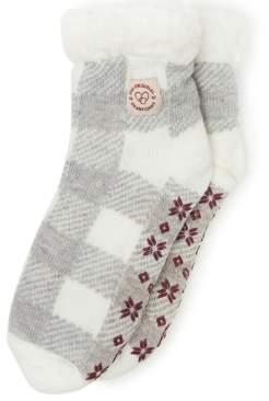 Dearfoams Knit Cozy Slipper Sock, Online Only