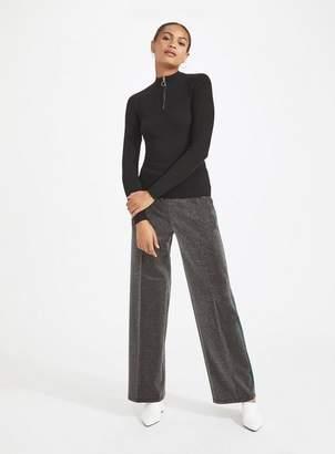 Miss Selfridge Glitter side stripe wide leg trousers