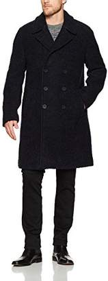 French Connection Men's Boucle Collared Long Coat