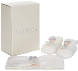 La Perla Doll Booties and Headband Set