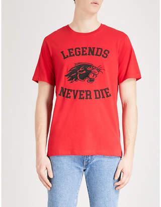 The Kooples Panther-motif cotton-jersey T-shirt