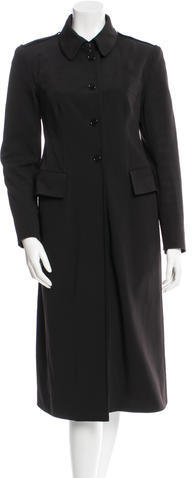 prada Prada Black Long Coat