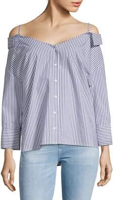 Collective Concepts Women's Off-Shoulder Stripe Shirt