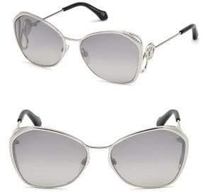Roberto Cavalli 58MM Gradient Round Sunglasses