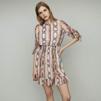 c6eccc2e2fc5 Maje Short dress with python print
