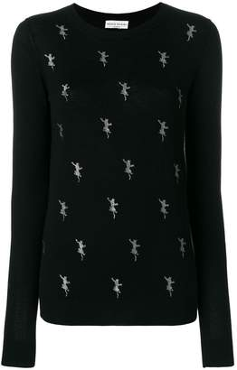 Sonia Rykiel lurex animal patterned top